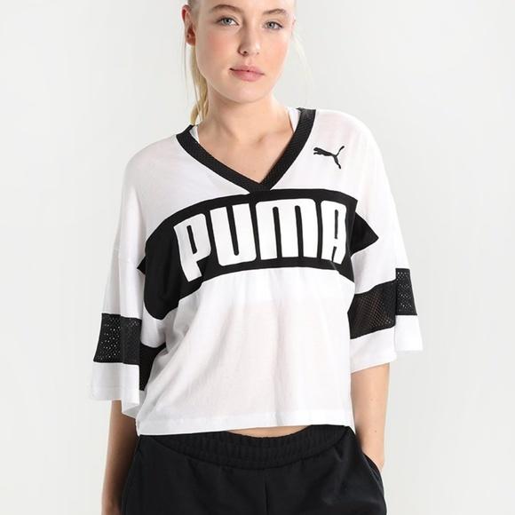 7e37dbe3918 Puma Tops | Make An Offer Urban Sport Jersey Crop Top | Poshmark